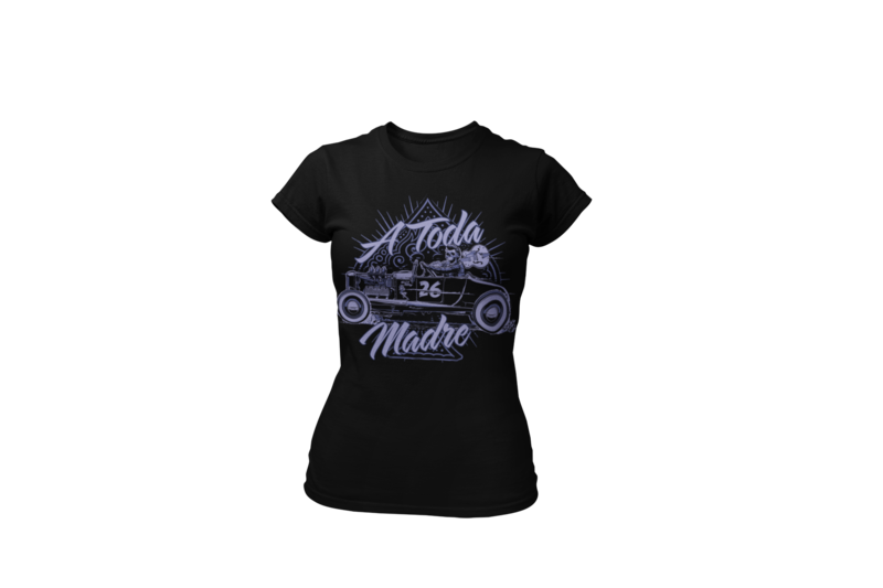 "A TODA MADRE T-SHIRT WOMAN by  Ger ""Dutch Courage"" Peters artwork"
