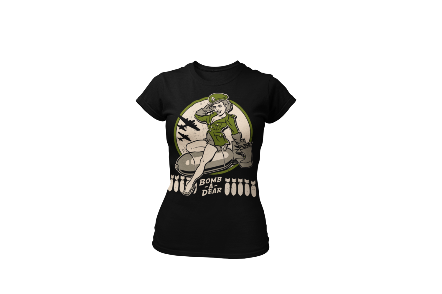 """BOMB A DEAR T-SHIRT WOMAN by Ger """"Dutch Courage"""" Peters artwork"""