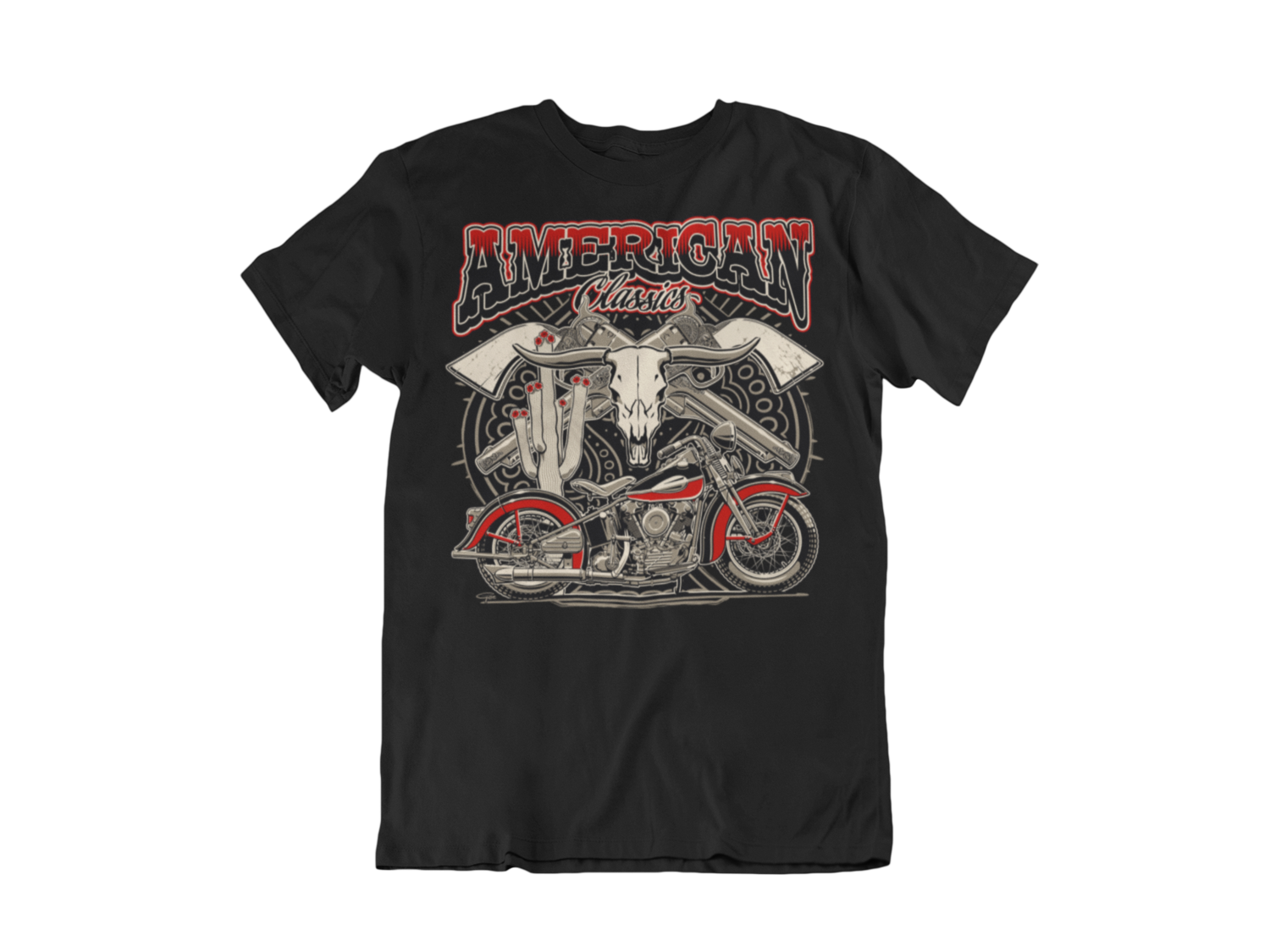 "AMERICAN CLASSICS ""KnuckleHead""  T-SHIRT MAN BY Ger ""Dutch Courage"" Peters artwork"