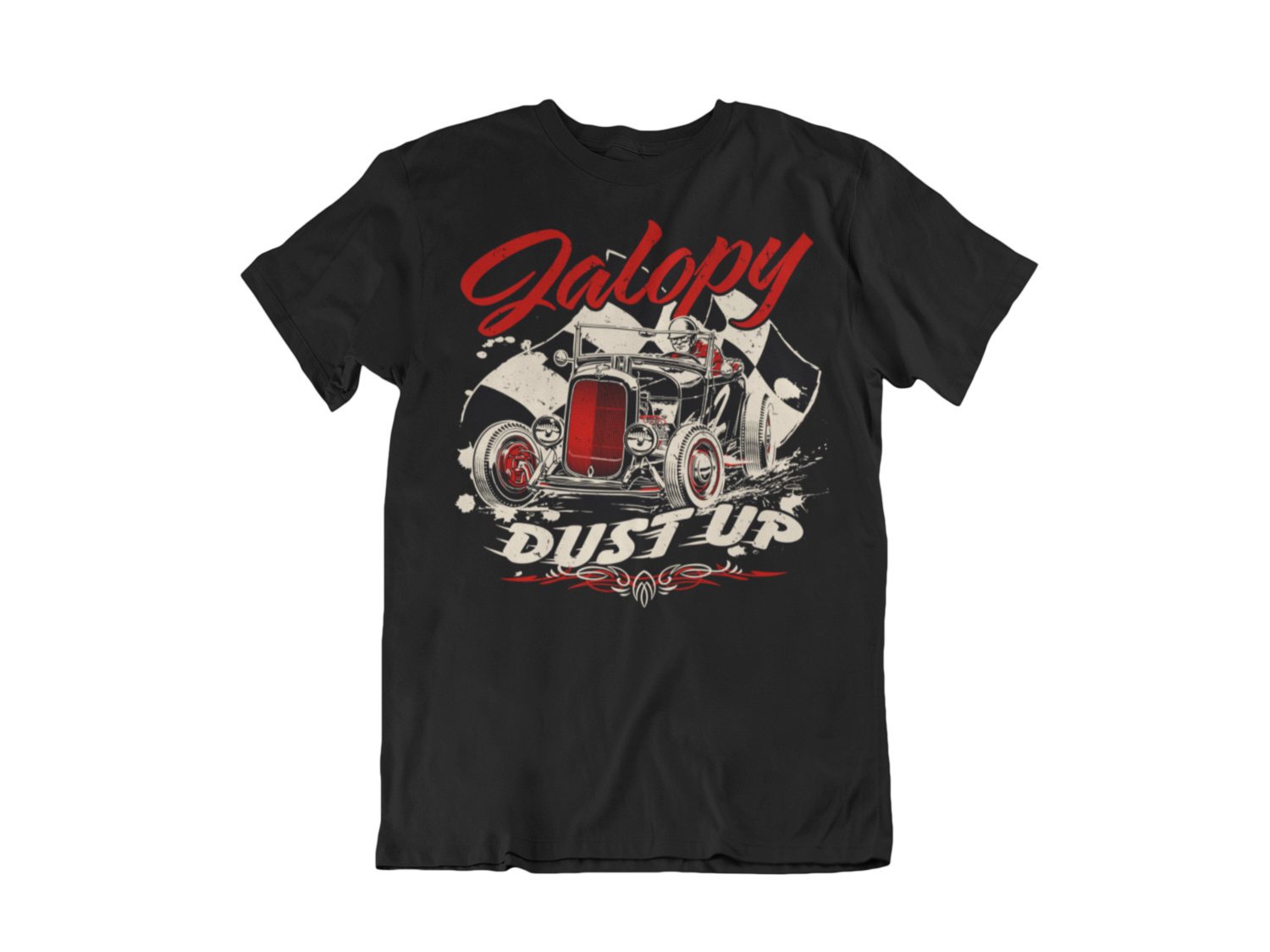 "JALOPY DUST UP T-SHIRT MAN BY Ger ""Dutch Courage"" Peters artwork"