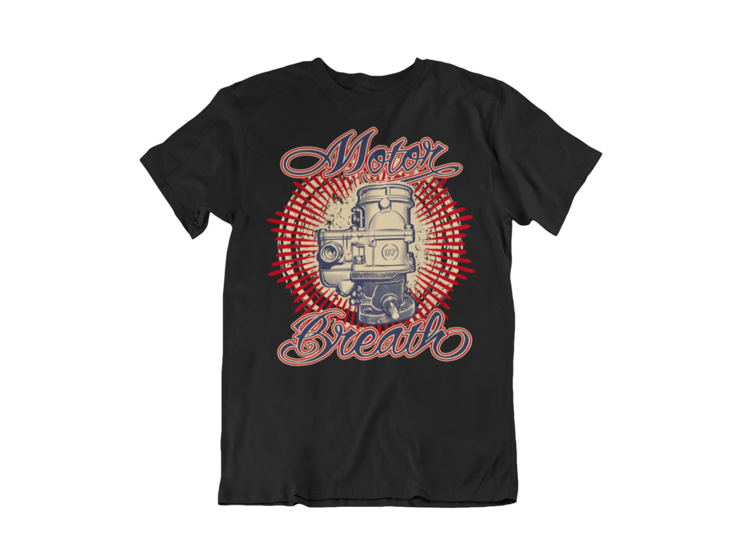 "MOTOR BREATH T-SHIRT MAN BY Ger ""Dutch Courage"" Peters artwork"