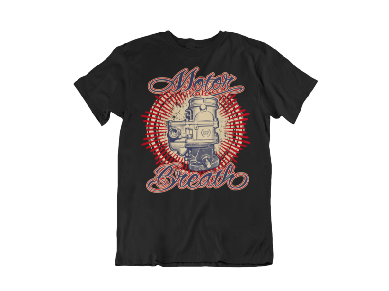 """MOTOR BREATH T-SHIRT MAN BY Ger """"Dutch Courage"""" Peters artwork"""