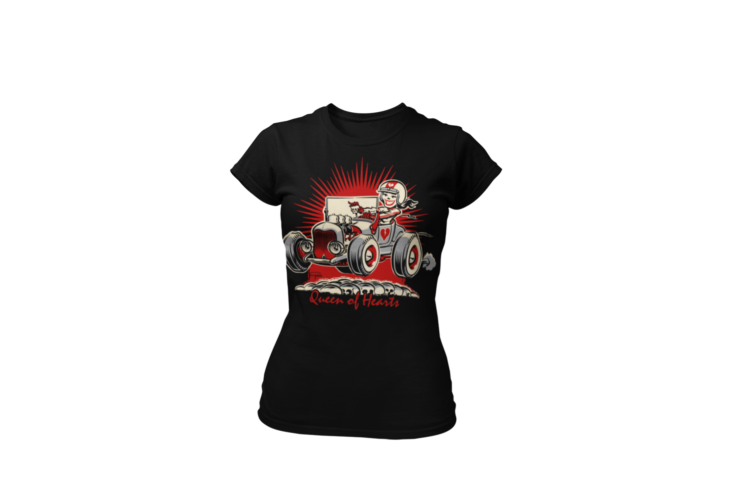 "QUEEN OF HEARTS T-SHIRT WOMAN by Ger ""Dutch Courage"" Peters artwork"