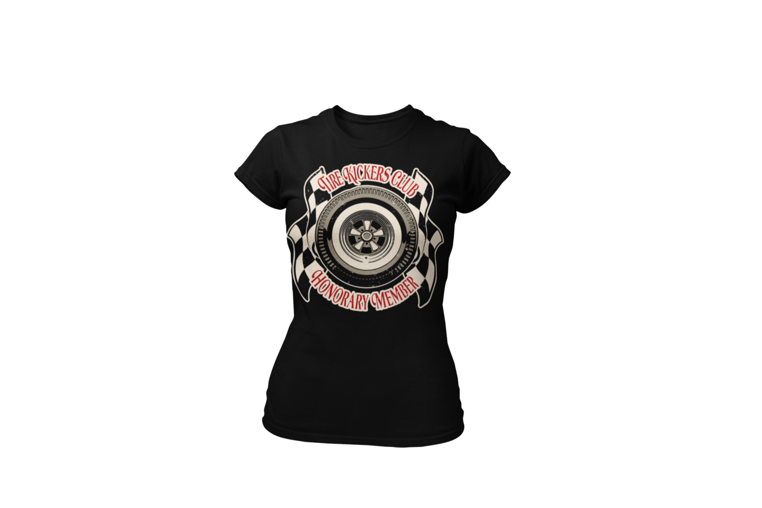 "TIRE KICKERS CLUB ""Monkey Wrench"" T-SHIRT WOMAN by Ger ""Dutch Courage"" Peters artwork"