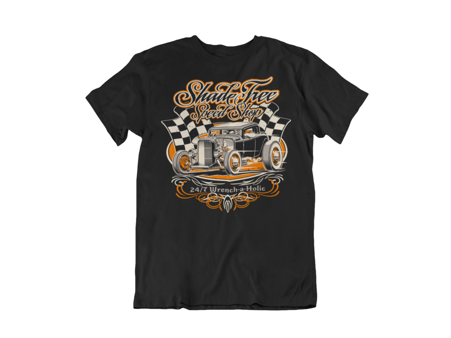"SHADE TREE SPEED SHOP ""Deuce"" T-SHIRT MAN BY Ger ""Dutch Courage"" Peters artwork"