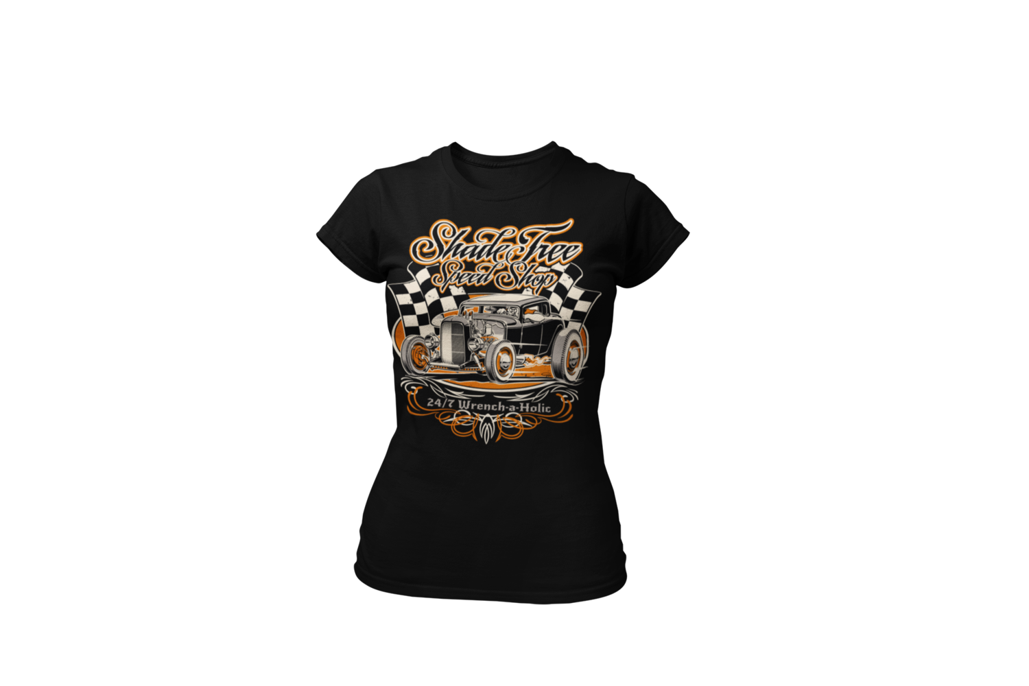 "SHADE TREE SPEED SHOP ""Deuce"" T-SHIRT WOMAN by Ger ""Dutch Courage"" Peters artwork"