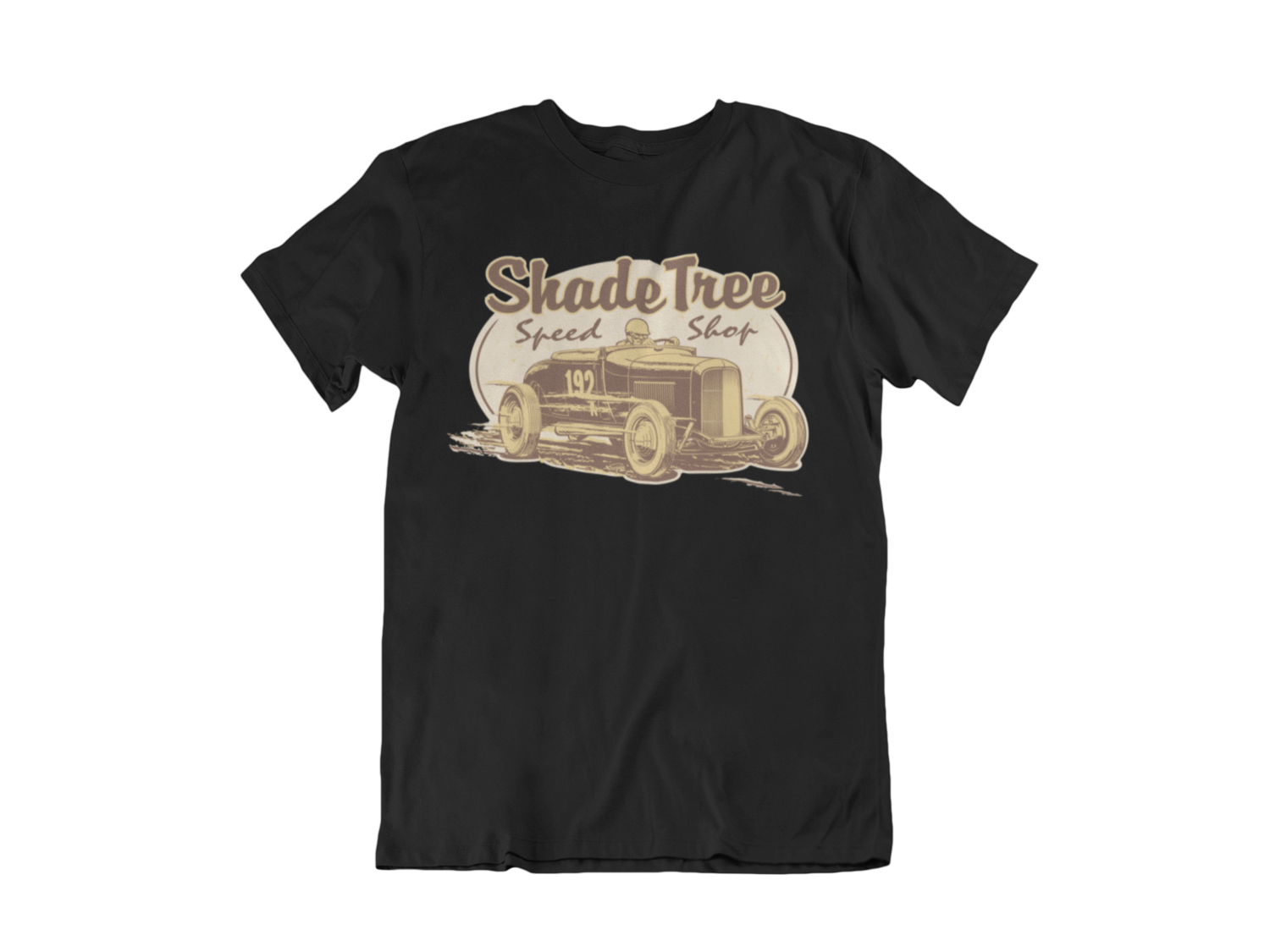 """SHADE TREE SPEED SHOP """"El Mirage"""" T-SHIRT MAN BY Ger """"Dutch Courage"""" Peters artwork"""