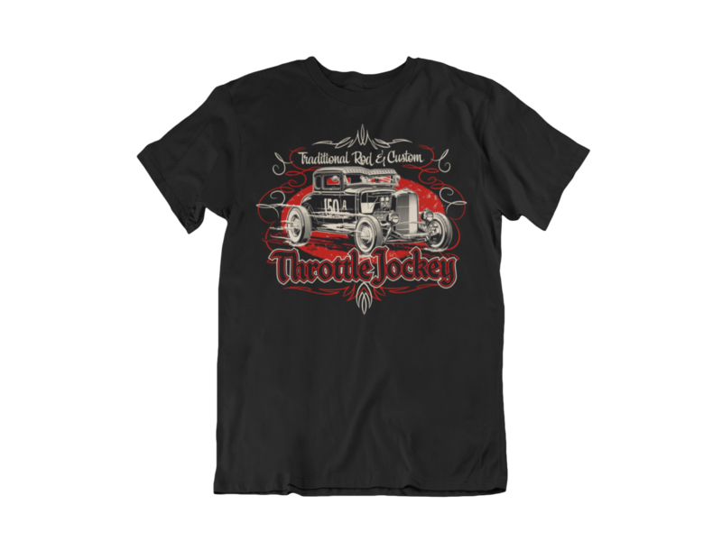 "THROTTLE JOCKEY ""Coupe"" T-SHIRT MAN BY Ger ""Dutch Courage"" Peters artwork"