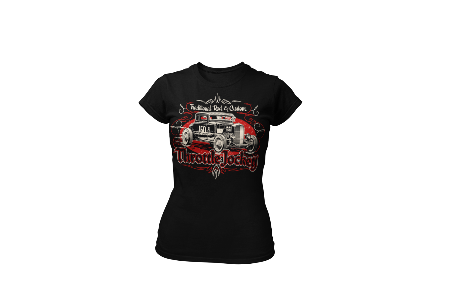"""THROTTLE JOCKEY """"Coupe"""" T-SHIRT WOMAN by Ger """"Dutch Courage"""" Peters artwork"""