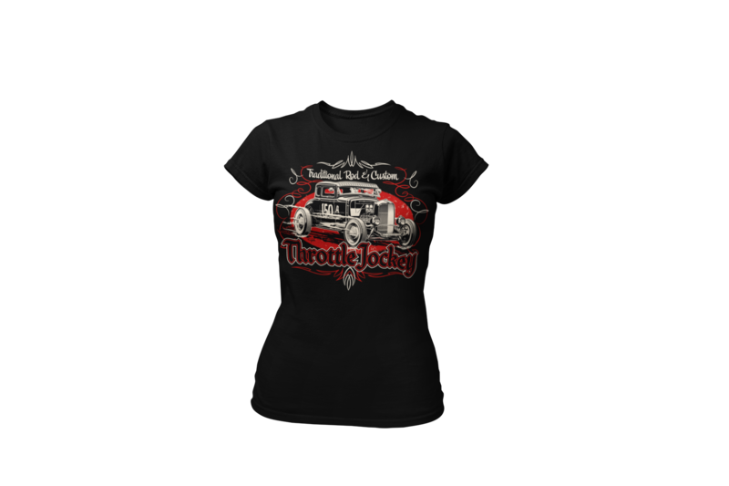 "THROTTLE JOCKEY ""Coupe"" T-SHIRT WOMAN by Ger ""Dutch Courage"" Peters artwork"