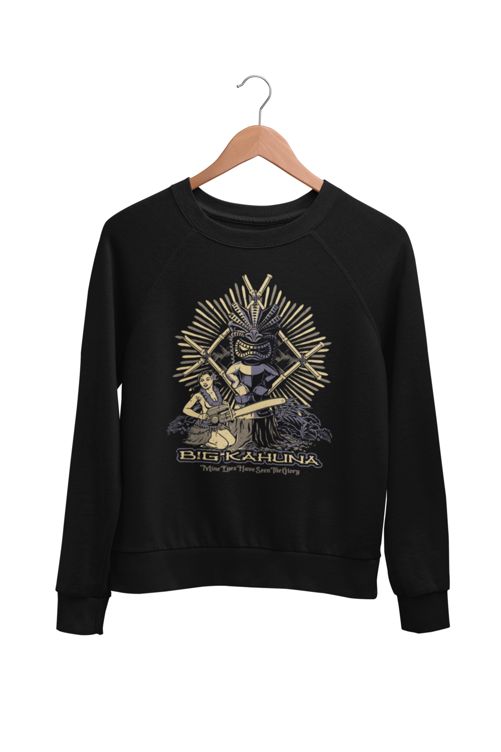 "BIG KAHUNA SWEATSHIRT UNISEX by BY Ger ""Dutch Courage"" Peters artwork"