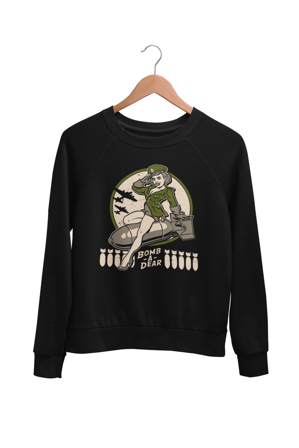 "BOMB A DEAR SWEATSHIRT UNISEX by BY Ger ""Dutch Courage"" Peters artwork"