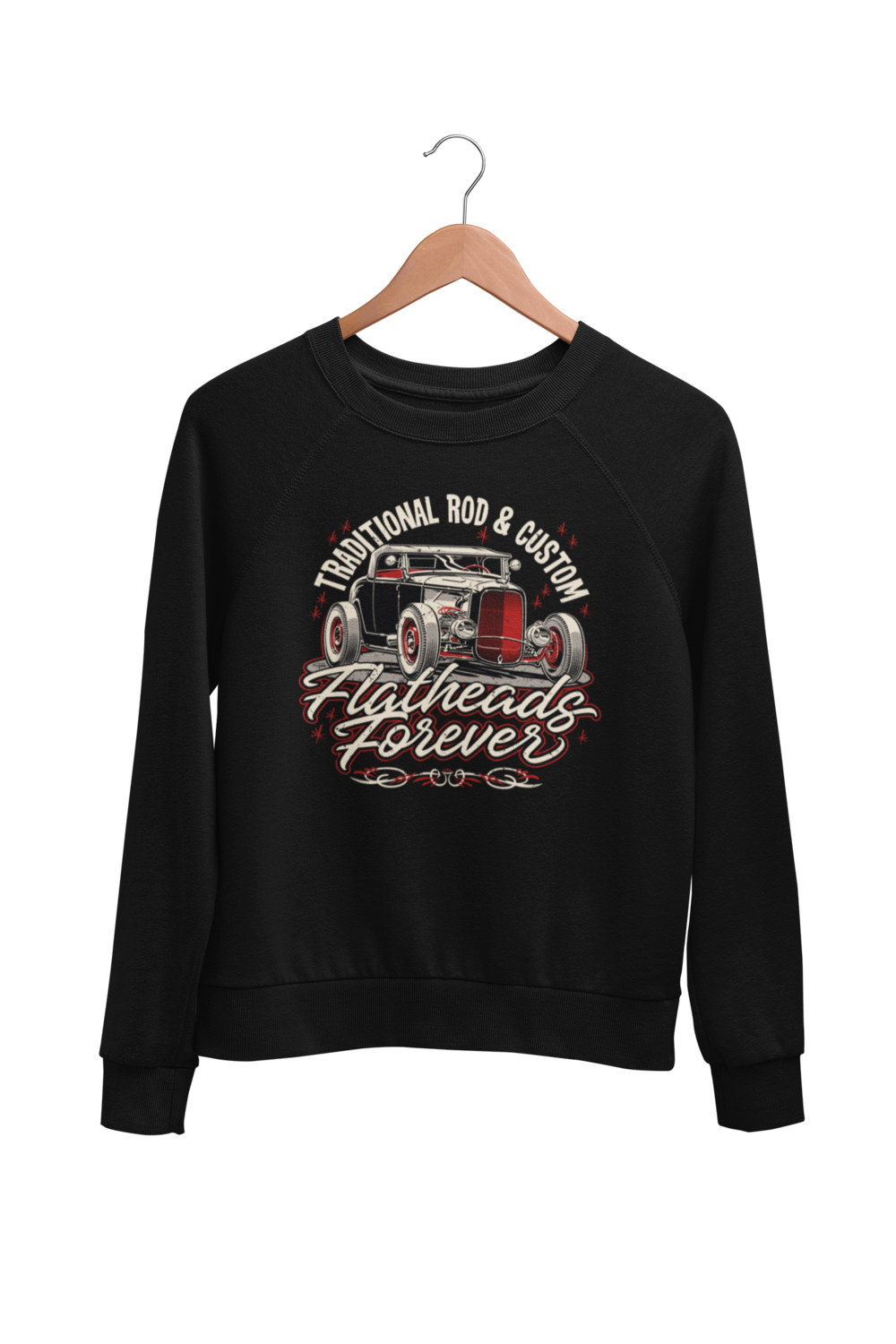 "FLATHEADS FOREVER SWEATSHIRT UNISEX by BY Ger ""Dutch Courage"" Peters artwork"