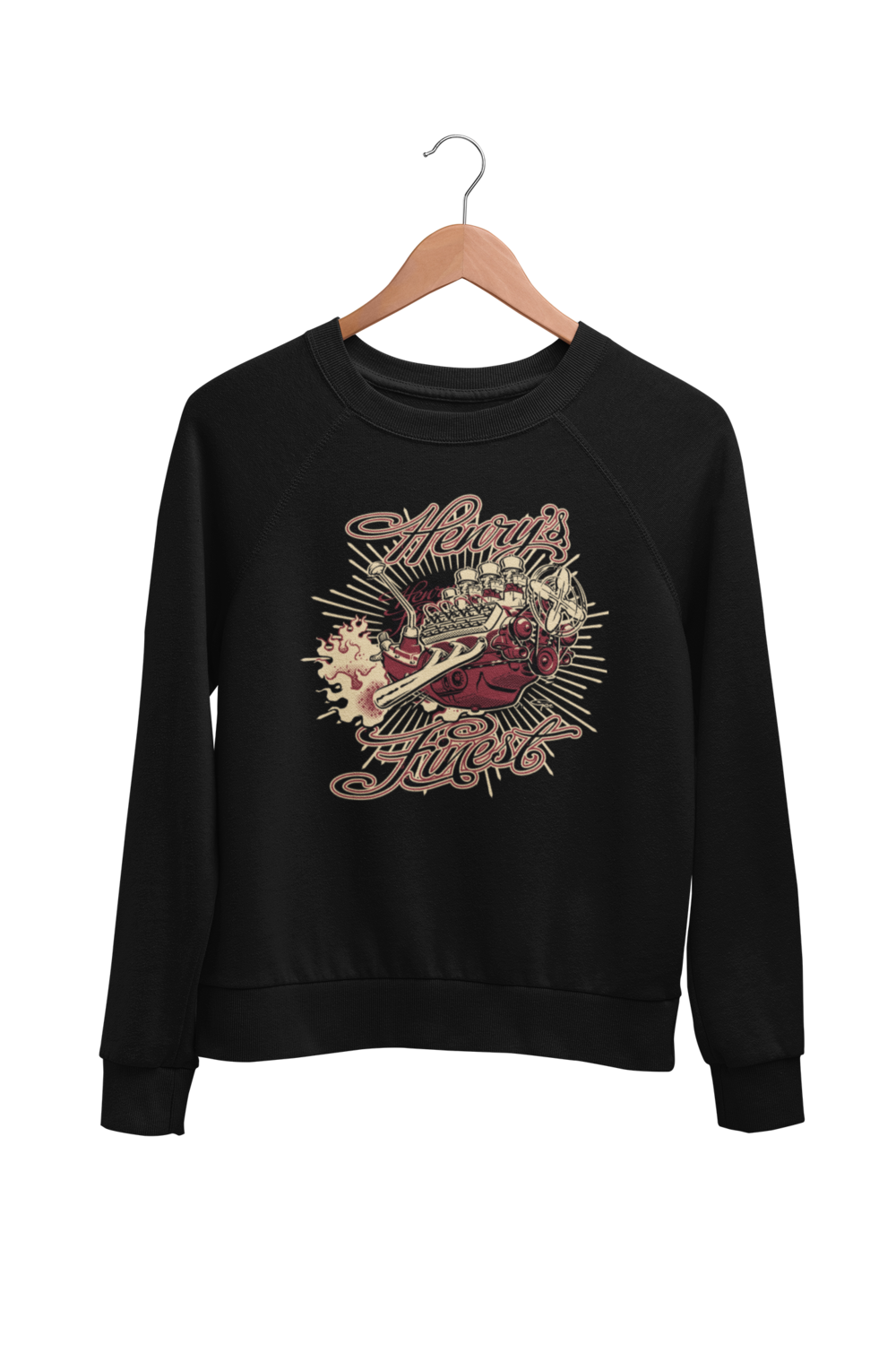 """HENRY FINEST SWEATSHIRT UNISEX by BY Ger """"Dutch Courage"""" Peters artwork"""