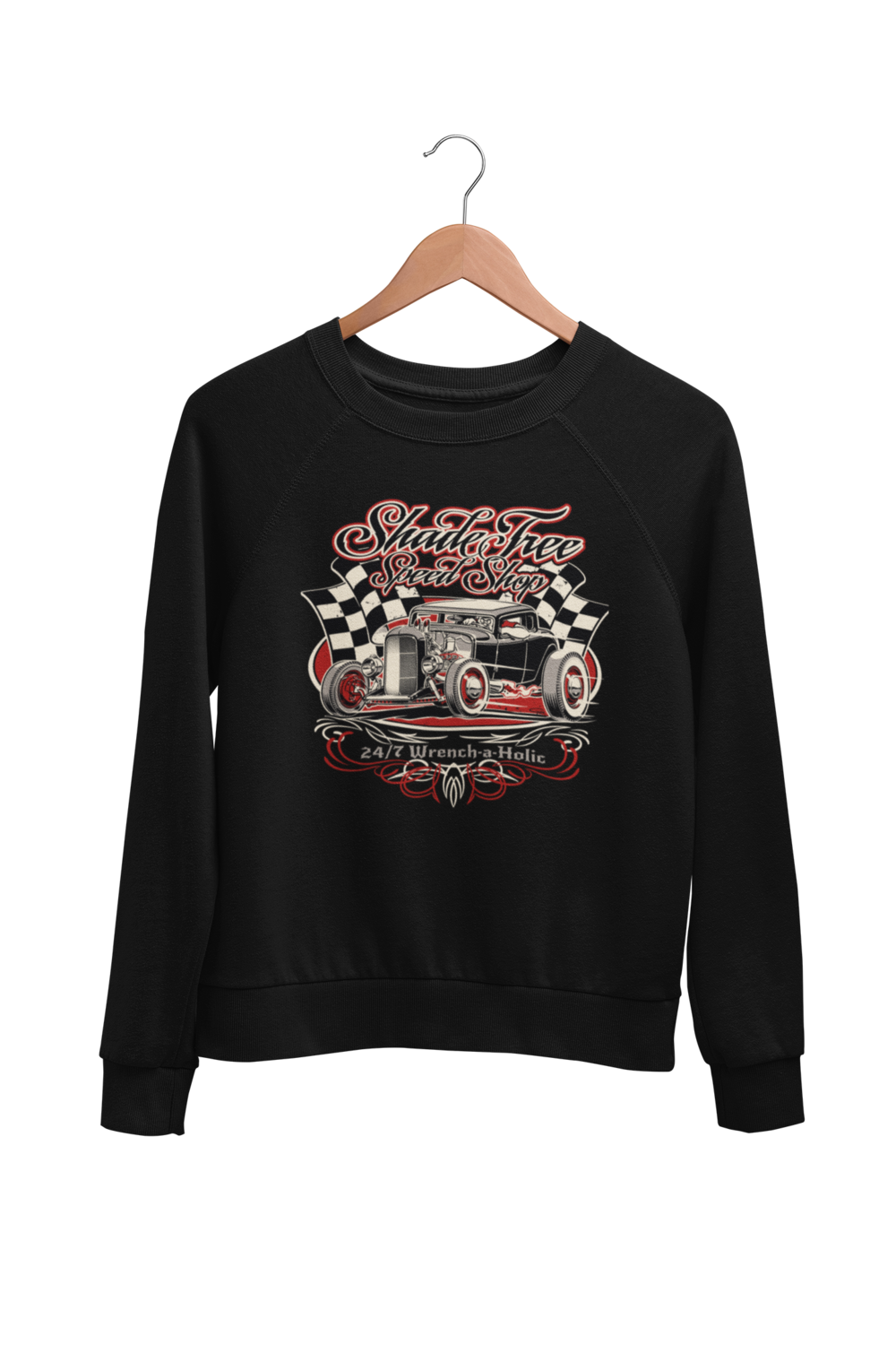 "SHADE TREE SPEED SHOP ""Deuce"" SWEATSHIRT UNISEX by BY Ger ""Dutch Courage"" Peters artwork"