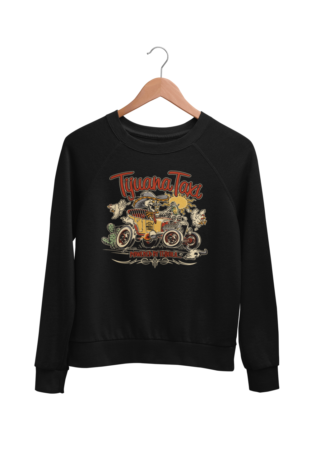 "TIJUANA TAXI SWEATSHIRT UNISEX by BY Ger ""Dutch Courage"" Peters artwork"