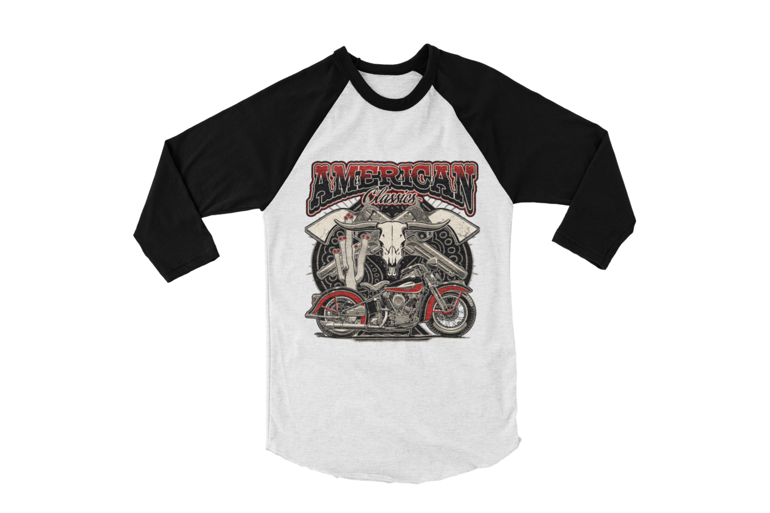 """AMERICAN CLASISICS BASEBALL LONG SLEEVE UNISEX BY Ger """"Dutch Courage"""" Peters artwork"""