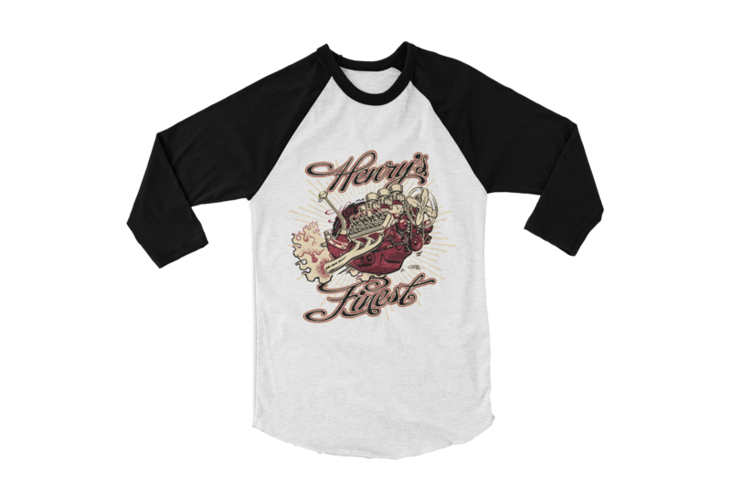 "HENRYS FINEST BASEBALL LONG SLEEVE UNISEX BY Ger ""Dutch Courage"" Peters artwork"