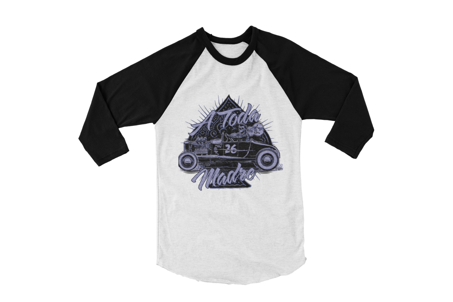 "A TODA MADRE BASEBALL LONG SLEEVE UNISEX BY Ger ""Dutch Courage"" Peters artwork"