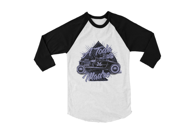 A TODA MADRE BASEBALL LONG SLEEVE UNISEX BY Ger