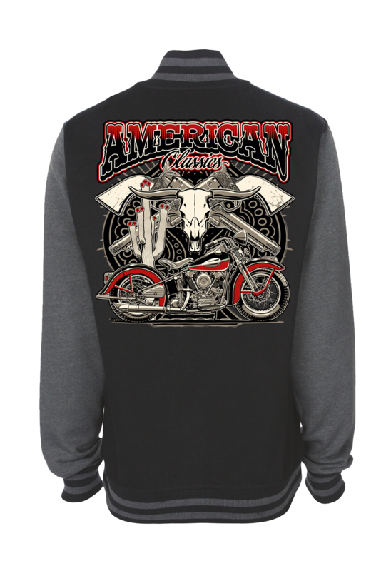 "VARSITY JACKET AMERICAN CLASSICS UNISEX by Ger ""Dutch Courage"" Peters artwork"