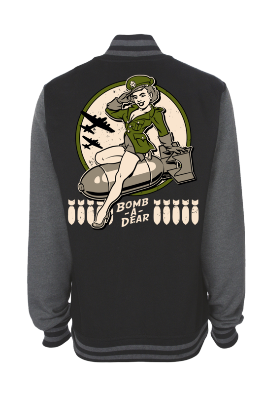 "BOMB A DEAR VARSITY JACKET UNISEX by Ger ""Dutch Courage"" Peters artwork"