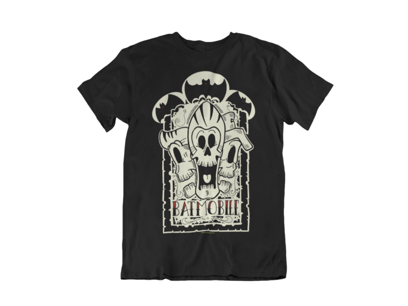 "BATMOBILE ""3 skulls"" tshirt for MEN"