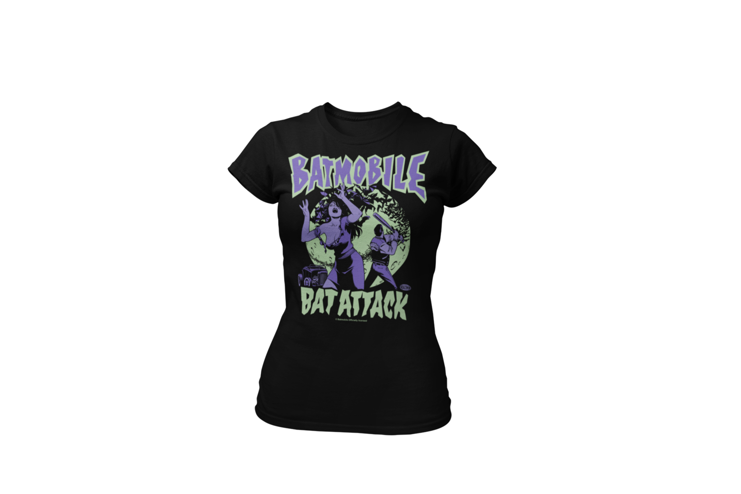 "BATMOBILE ""BAT ATTACK""  tshirt for WOMEN"