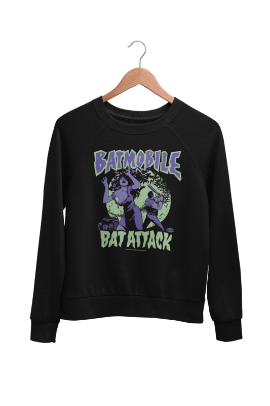 "BATMOBILE SWEATSHIRT ""Bat attack"" UNISEX"