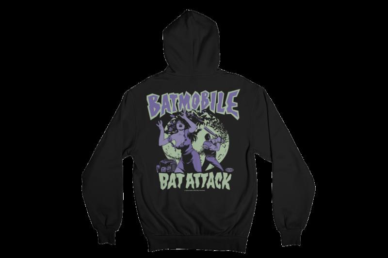 """BATMOBILE  """"BAT ATTACK"""" HOODIE ZIP for MEN"""