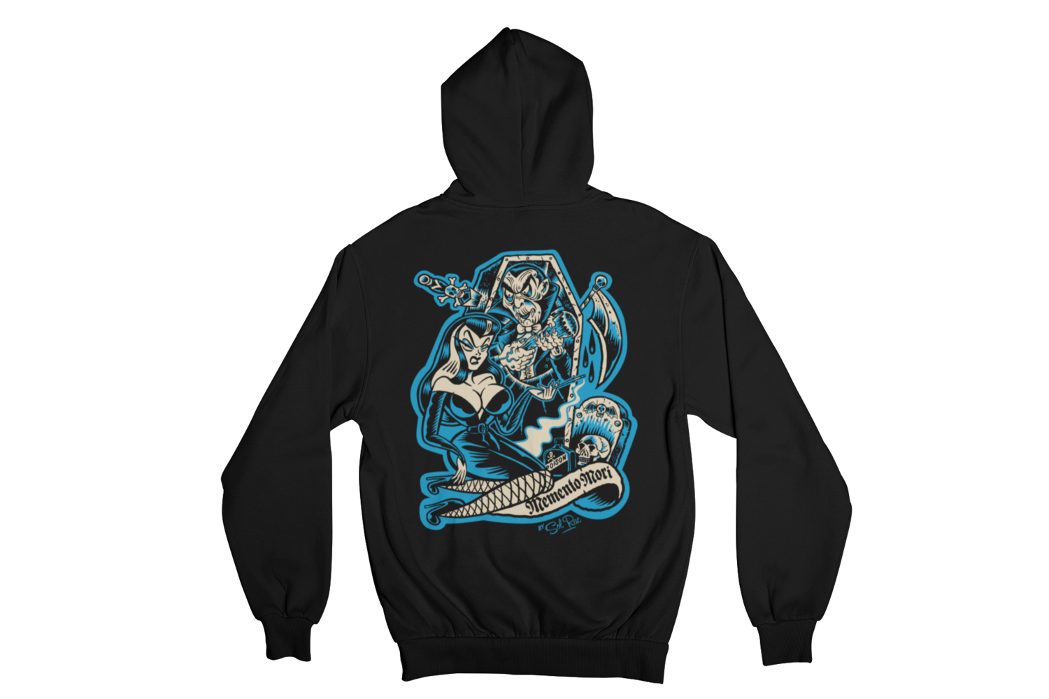 MEMENTO MORI  HOODIE ZIP for MEN by SOL RAC