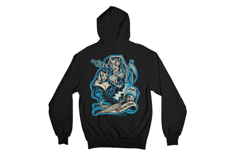 MEMENTO MORI HOODIE ZIP for WOMEN by SOL RAC