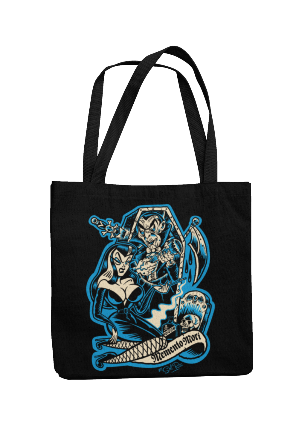 MEMENTO MORI Cotton Bag  logo design SOL RAC