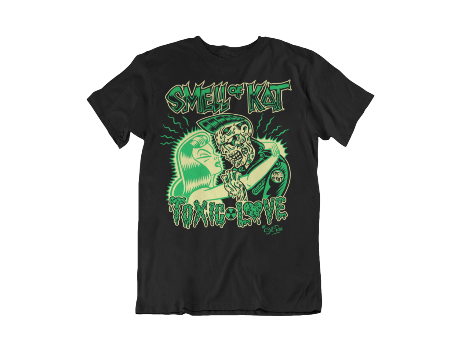 "SMELL OF KAT ""TOXIC LOVE"" tshirt for MEN BY SOLRAC"