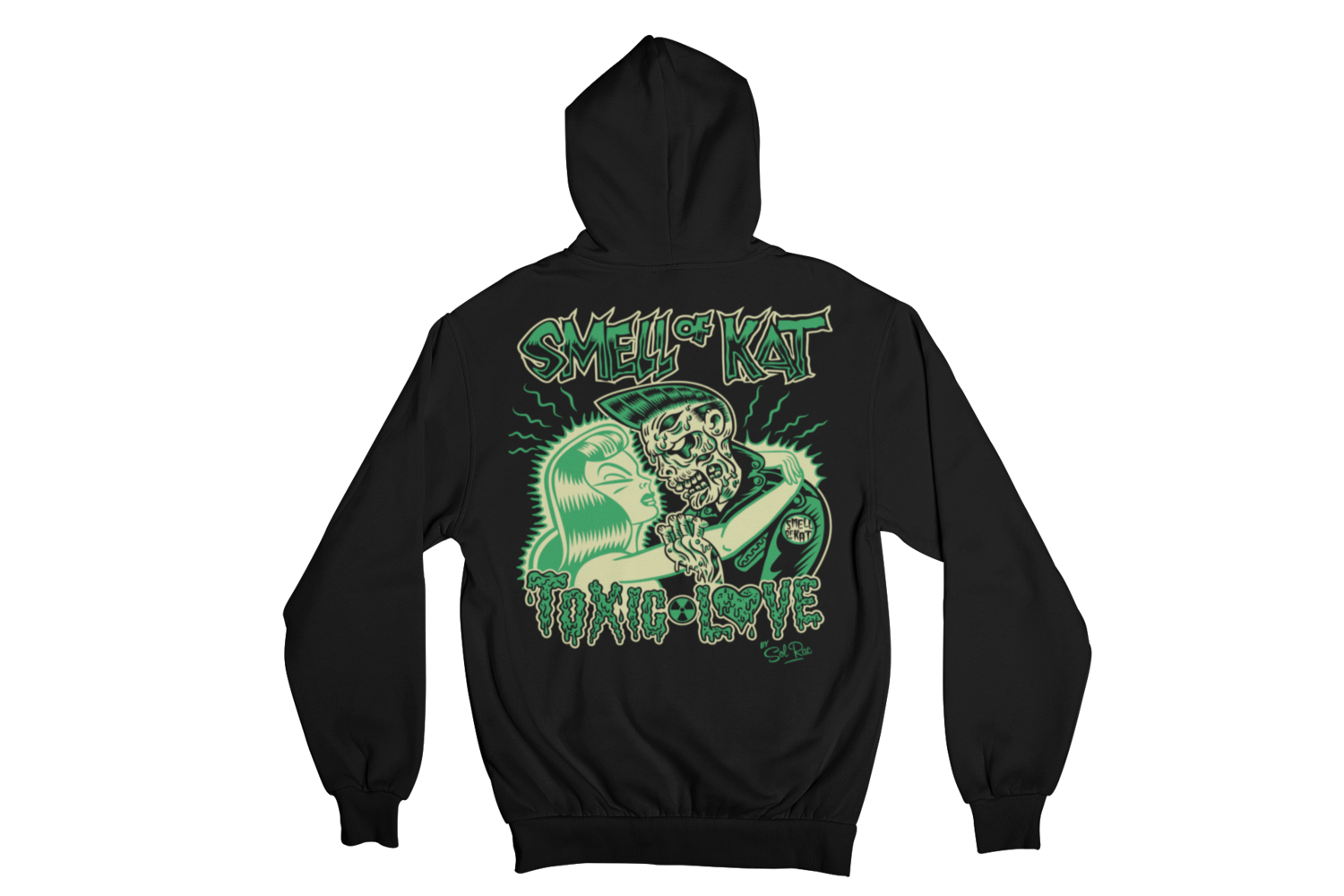 "SMELL OF KAT ""TOXIC LOVE""  HOODIE ZIP for MEN by SOLRAC"