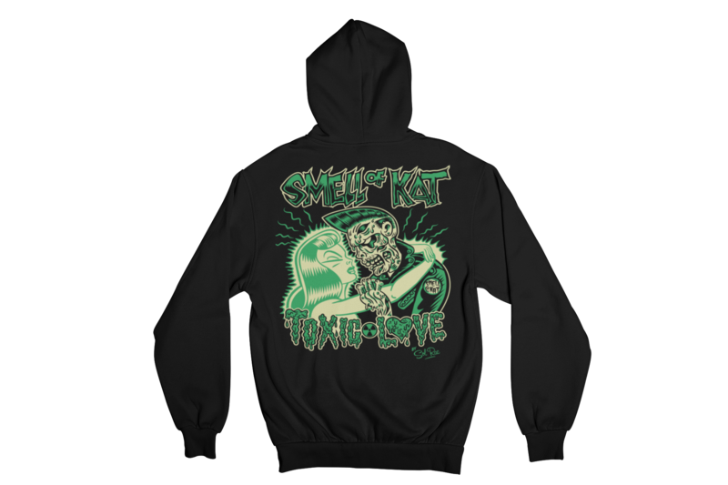 "SMELL OF KAT ""TOXIC LOVE""  HOODIE ZIP for WOMEN by SOLRAC"