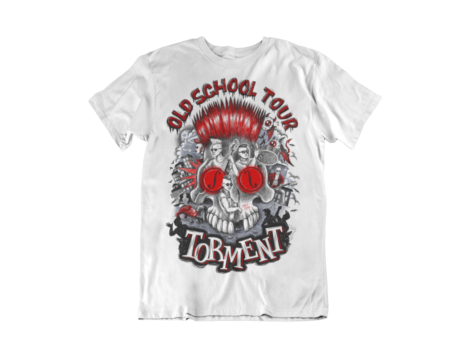 "TORMENT ""Old School Tour"" tshirt for MEN"