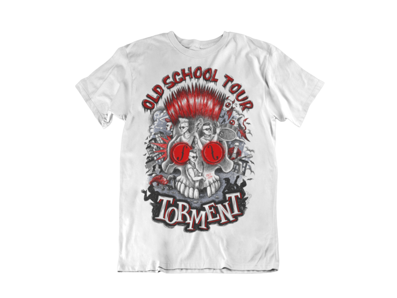 "TORMENT ""Old School Tour"" tshirt for MEN"