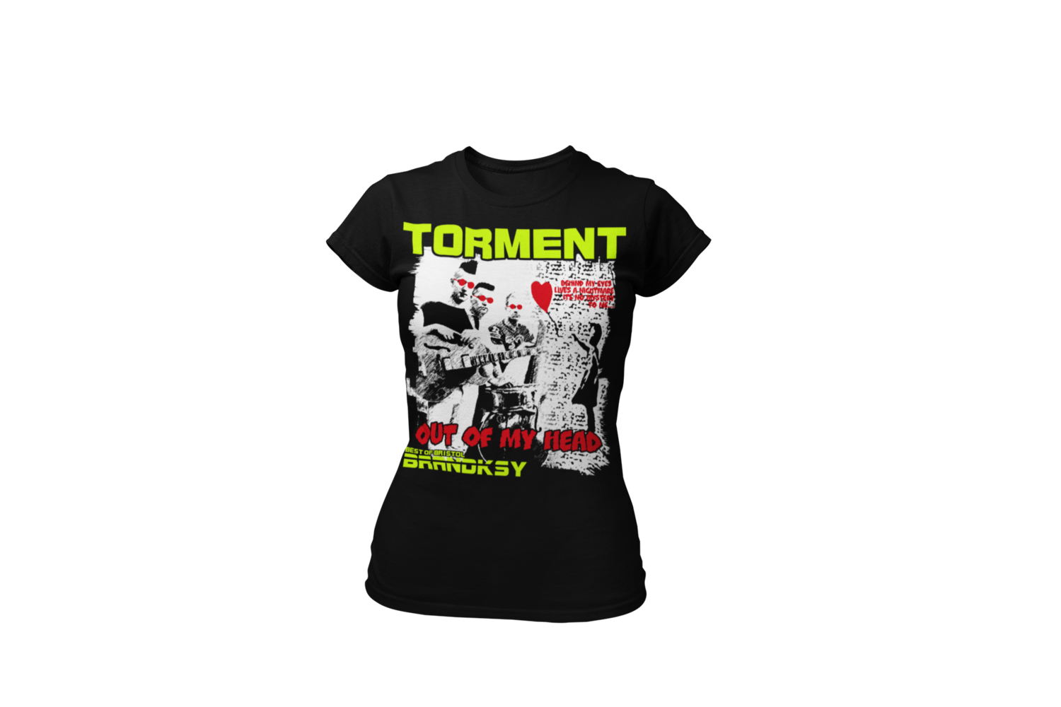 """TORMENT """"Out of my head"""" tshirt for WOMEN"""