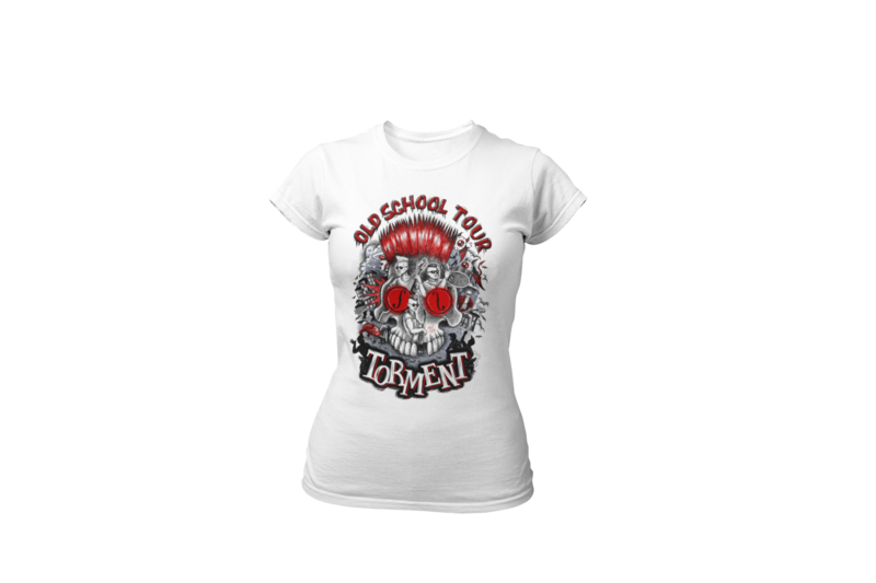 """TORMENT """"Old school tour"""" tshirt for WOMEN"""