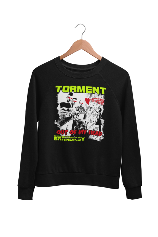 "TORMENT ""Out of my head"" SWEATSHIRT UNISEX"