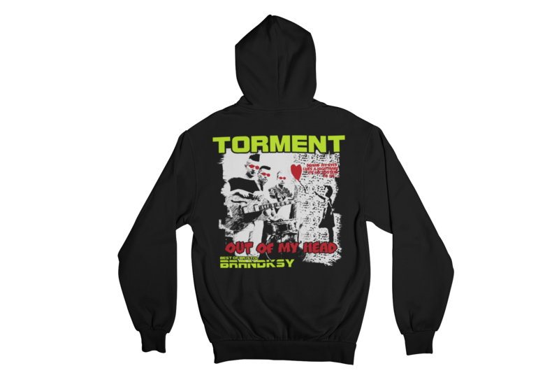 """TORMENT """"OUT OF MY HEAD"""" HOODIE ZIP for MEN"""