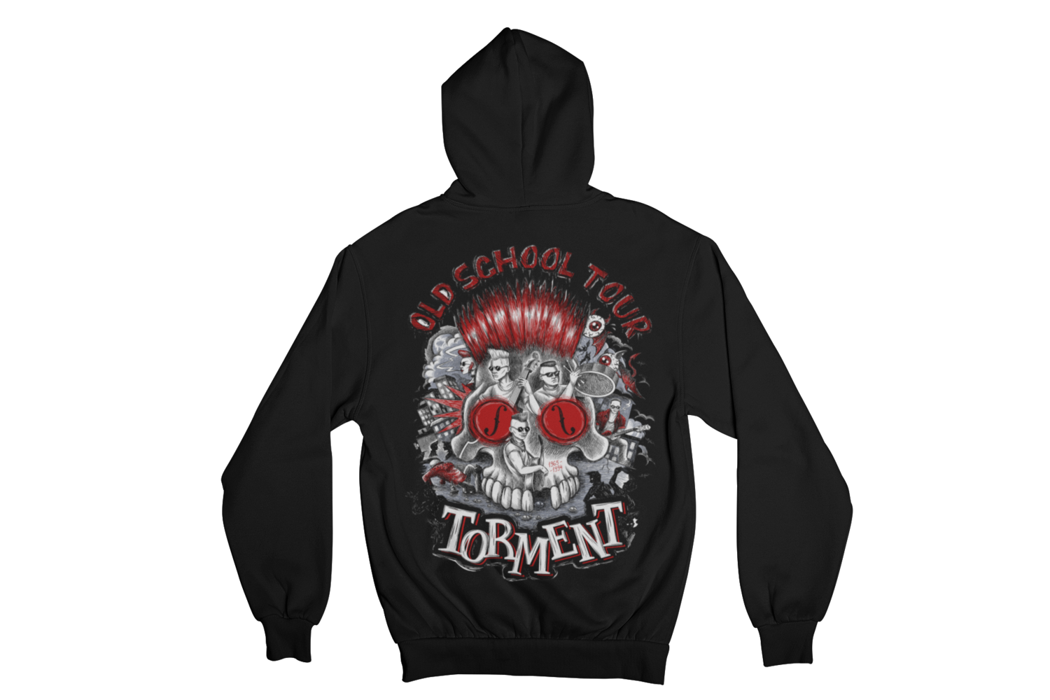"TORMENT ""OLD SCHOOL TOUR"" HOODIE ZIP for WOMEN"