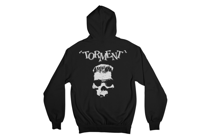 "TORMENT ""OLD SKULL"" HOODIE ZIP for WOMEN"