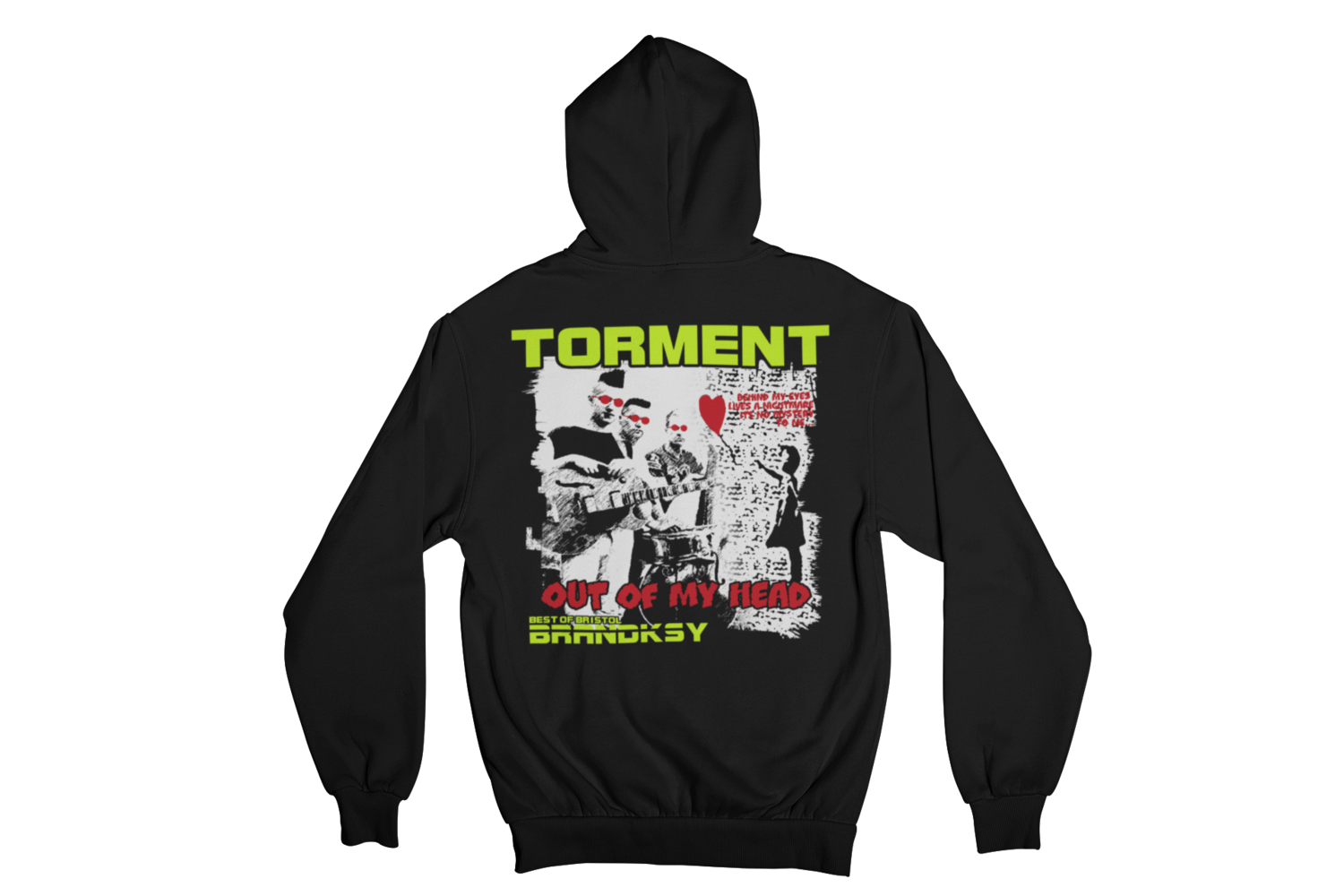 """TORMENT """"OUT OF MY HEAD"""" HOODIE ZIP for WOMEN"""