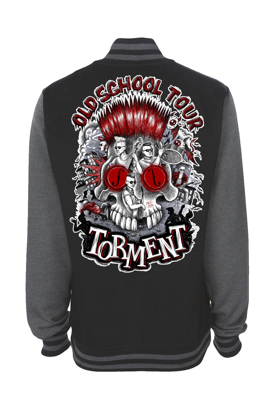"TORMENT ""Old School Tour"" VARSITY JACKET UNISEX"