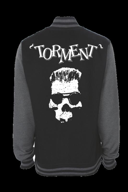 "TORMENT ""Old Skull"" VARSITY JACKET UNISEX"