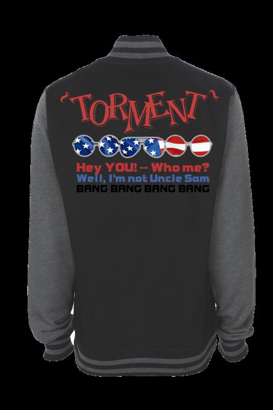 """TORMENT """"Uncle Sam"""" VARSITY JACKET UNISEX"""
