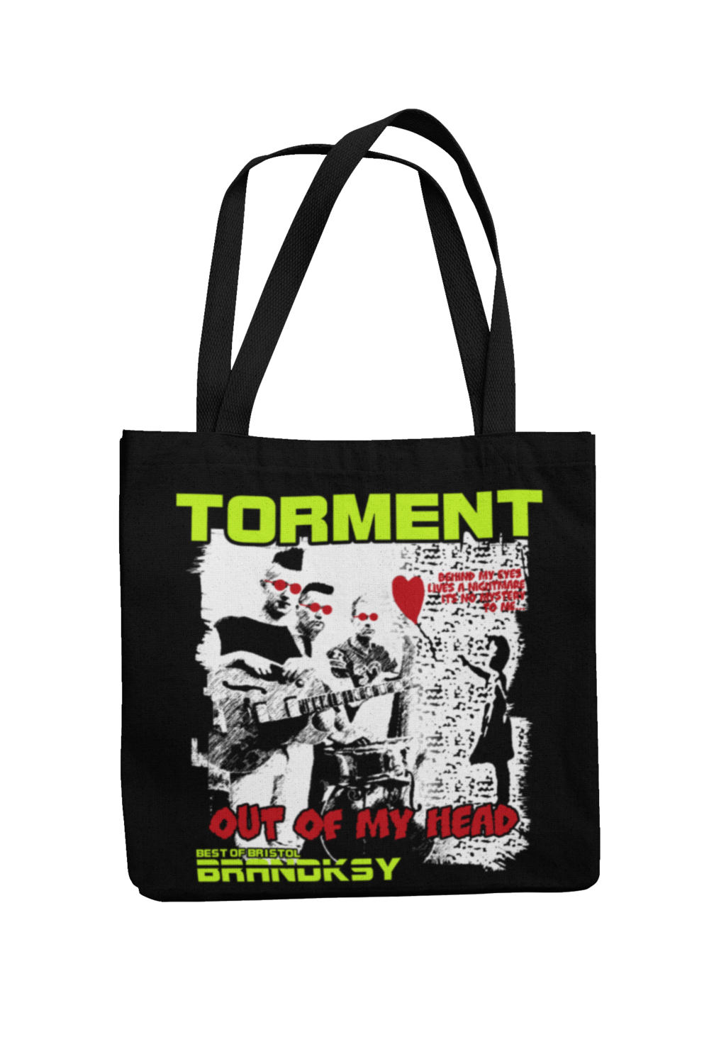 "TORMENT ""Out of my head"" Cotton Bag"