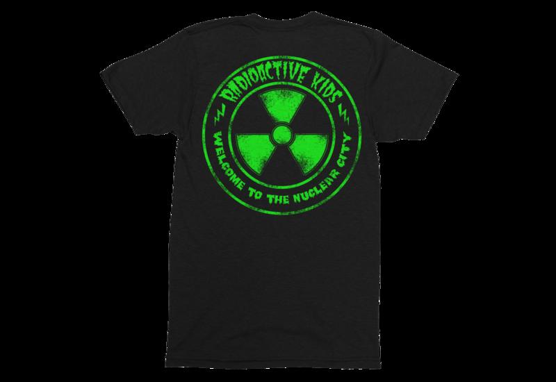 "RADIOACTIVE KIDS ""Nuclear City""  tshirt for MAN"